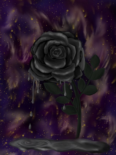 """Melting Rose"" (digital painting) by Clara Nelson"