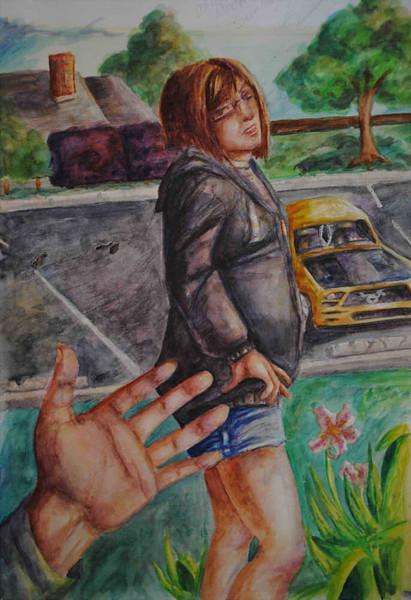 """Dialogue"" (watercolor) by Kayla Hutchins"
