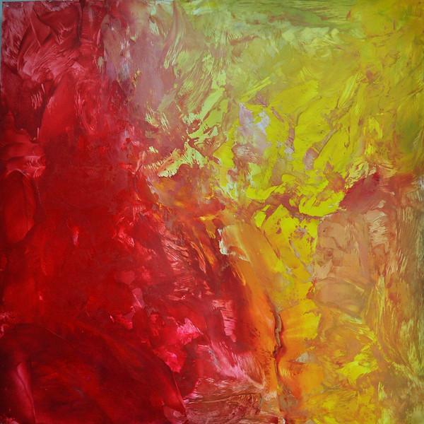 """red yellow"" (encaustic) by Sylvia Ellis"
