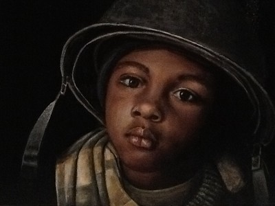 """Young Soldier"" (acrylic) by Diana Licon"