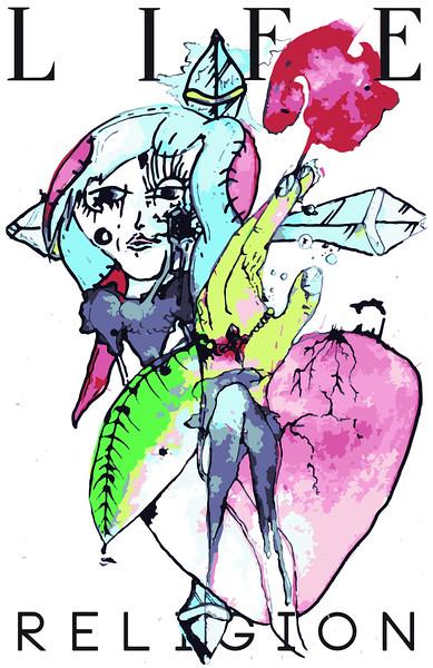 """""""Big Bang"""" (watercolor and mixed media) by Daniel Koval"""