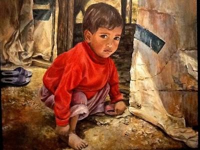 """Ishmael"" (acrylic) by Diana Licon"