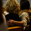 KRISTOPHER RADDER - BRATTLEBORO REFORMER<br /> Family members of Steven Lott comfort each other during during a double homicide case in Windham County Superior Court, Criminal Division, on Friday, June 9, 2017. O'Neill is accused of killing two men in Townshend in November 2014.
