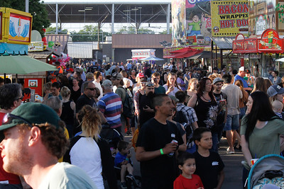 Crowds gather in the food court area on opening day of the Silver Dollar Fair Thursday May 25, 2017 at the Silver Dollar Fairgrounds in Chico, California. (Emily Bertolino -- Enterprise-Record)