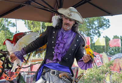 The Pirate's Parrot Show on opening day of the Silver Dollar Fair Thursday May 25, 2017 at the Silver Dollar Fairgrounds in Chico, California. (Emily Bertolino -- Enterprise-Record)