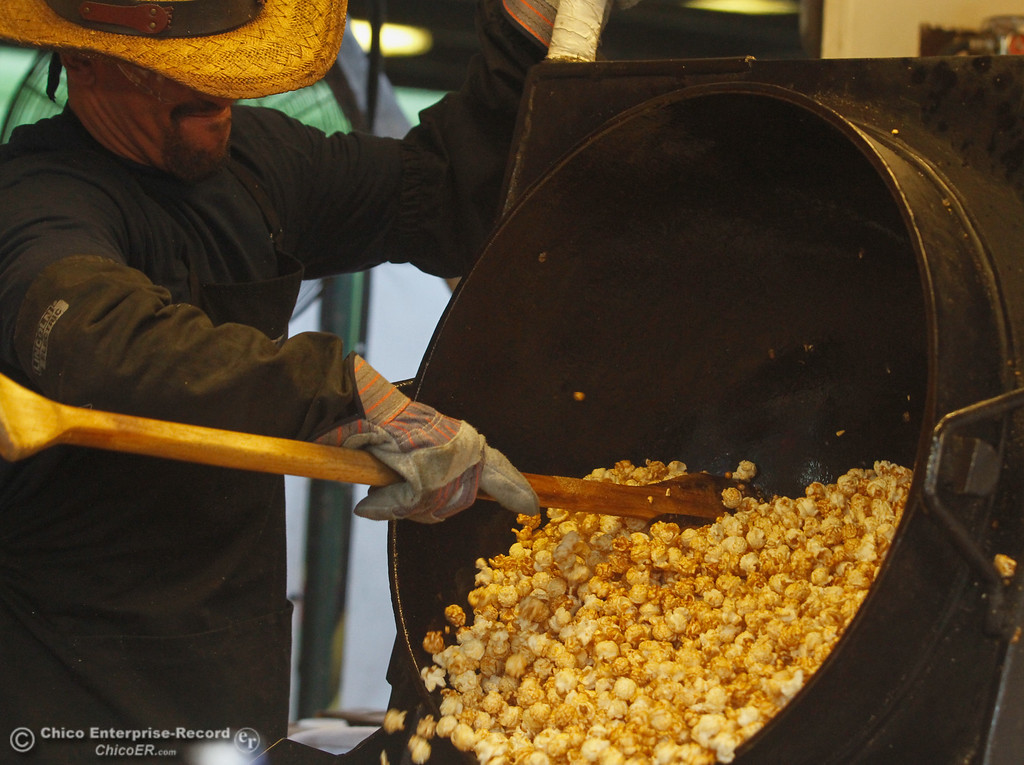 . Freshly cooked kettle corn ready for consumption on the opening night of the 2017 Butte County Fair Thursday August 24, 2017 in Gridley, California. (Emily Bertolino -- Mercury-Register)