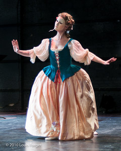 Member ef the New York Baroque Dance Company in rehearsal of Opera Lafayette's production of Gluck's Armide
