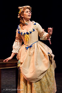 Soprano Meghan McCall in  Opera Lafayette's production of Philidor's Sancho Pança