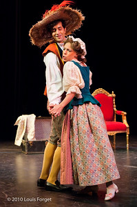 (L. to R.) Tenor Karim Sulayman and soprano Elizabeth Calleo in  Opera Lafayette's production of Philidor's Sancho Pança