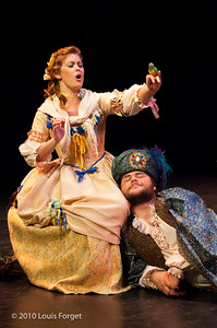 (L. to R.) Soprano Meghan McCall and baritone Darren Perry in Opera Lafayette's production of Philidor's Sancho Pança
