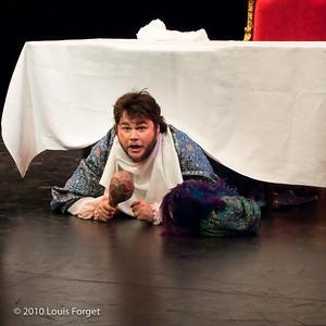 Baritone Darren Perry in Opera Lafayette's production of Philidor's Sancho Pança