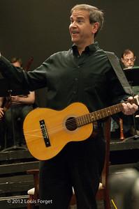 Bass-baritone James Shaffran in rehearsal of Opera Lafayette's production of Il Barbiere di Siviglia by Paisiello