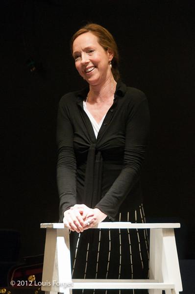 Soprano Jennifer Casey Cabot in rehearsal of Opera Lafayette's production of Il Barbiere di Siviglia by Paisiello
