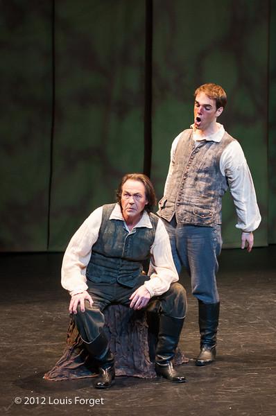 (L. to R.) William Sharp and Thomas Dolié in  Opera Lafayette's production of Le Roi et le fermier by Monsigny.
