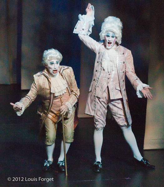 (L. to r.) Tony Boutté and Jeffrey Thompson in Opera Lafayette's production of Le Roi et le fermier by Monsigny