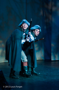 (L. to R.) David Newman and Thomas Dolié in Opera Lafayette's production of Le Roi et le fermier by Monsigny