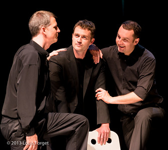 (L. to R.) Aaron Sheehan, David Newman and François-Olivier Jean in Opera Lafayette's production of Actéon by Charpentier
