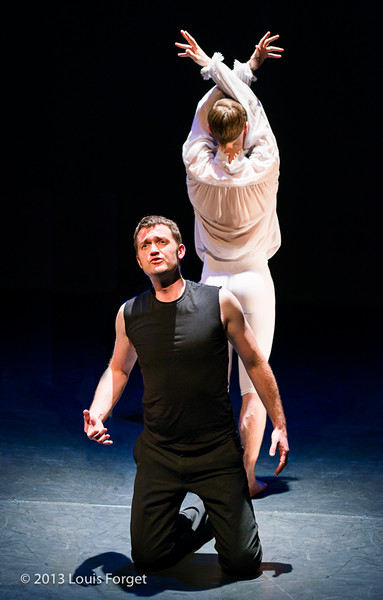 (L. to R.) Tenor Aaron Sheehan and dancer Benny Olk in Opera Lafayette's production of Actéon by Charpentier