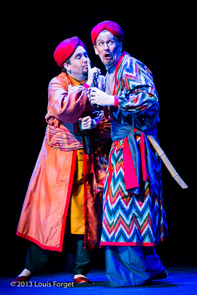 Andrew Adelsberger and David Newman in Opera Lafayette's production of Lalla Roukh by Félicien David