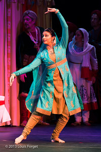 Chitra Kalyandurg of Kalanidhi Dance In Opera Lafayette's production of Lalla Roukh by Félicien David