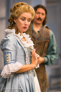(L. to R.) Blandine Staskiewicz and Alex Dobson in rehearsal of Opera Lafayette's production of Mozart's Cosi fan tutte