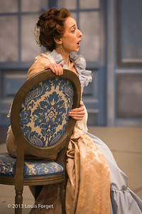 Pascale Beaudin In rehearsal of Opera Lafayette's production of Mozart's Cosi fan tutte