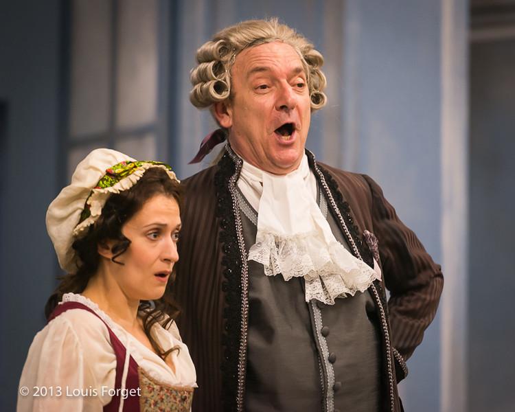 (L. to R.) Claire Debono and Bernard Deletré In rehearsal of Opera Lafayette's production of Mozart's Cosi fan tutte
