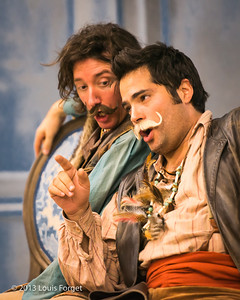 (L. to R.) Alex Dobson and Antonio Figueroa in rehearsal of Opera Lafayette's production of Mozart's Cosi fan tutte