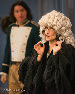 (L. to R.) Alex Dobson and Claire Debono In rehearsal of Opera Lafayette's production of Mozart's Cosi fan tutte