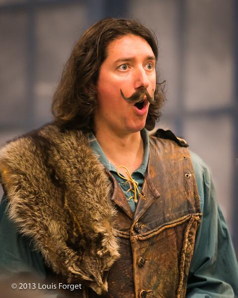 "Alex Dobson as ""Guillaume"" in rehearsal of Opera Lafayette's production of Mozart's Cosi fan tutte"