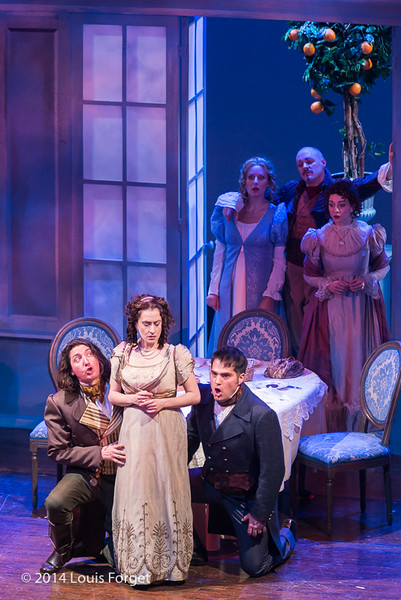 (L. to R.) Alex Dobson, Claire Debono, Antonio Figueroa, Blandine Staskiewicz, Jeffrey Thompson and Pascale Beaudin In Opera Lafayette's production of Les Femmes Vengées By Philidor