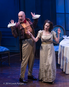 (L. to R.) Jeffrey Thompson and Claire Debono In Opera Lafayette's production of Les Femmes Vengées By Philidor