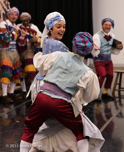 Soprano Sophie Junker with dancer Aaron R. White in Opera Lafayette's production of Grétry's L'Épreuve Villageoise