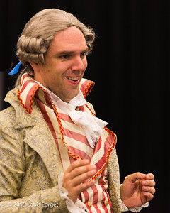 Baritone Thomas Dolié in Opera Lafayette's production of Grétry's L'Éperuve Villageoise