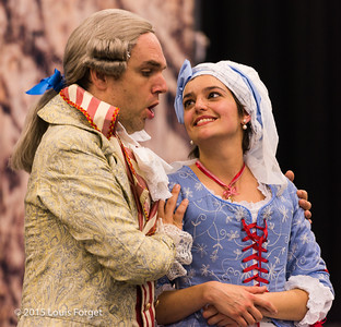 (L. to R.) Baritone Thomas Dolié and soprano Sophie Junker in Opera Lafayette's production of Grétry's L'Épreuve Villageoise