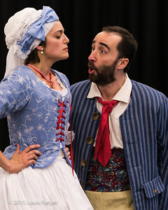 (L. to R.)  Soprano Sophie Junker and tenor Francisco Fernández-Rueda in Opera Lafayette's production of Grétry's L'Épreuve Villageoise
