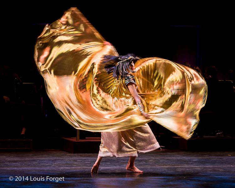 Carly Fox Horton of the New York Baroque Dance Company in Opera Lafayette's production of Rameau's Les Fêtes de l'Hymen et de l'Amour ou Les Dieux d'Égypte