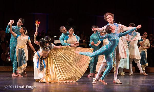 Members of the Seán Curran Company, the New York Baroque Dance Company and of Kalanidhi Dance in Opera Lafayette's production of Rameau's Les Fêtes de l'Hymen et de l'Amour ou Les Dieux d'Égypte