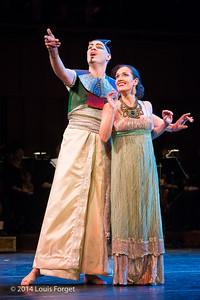 (L. to R.) Tenor Jeffrey Thompson and soprano Claire Debono in Opera Lafayette's production of Rameau's Les Fêtes de l'Hymen et de l'Amour ou Les Dieux d'Égypte