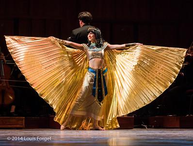 Carly Fox Horton of the New York Baroque Dance Company with Ryan Brown, conductor, in Opera Lafayette's production of Rameau's Les Fêtes de l'Hymen et de l'Amour ou Les Dieux d'Égypte