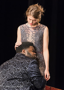(L. to R.) Countertenor John Holiday and mezzo-soprano Anna Reinhold in Opera Lafayette's production of Vivaldi's Catone in Utica
