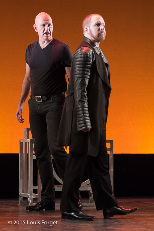 (L. to R.) Tenor Thomas Michael Allen and countertenor Eric Jurenas in Opera Lafayette's production of Vivaldi's Catone in Utica