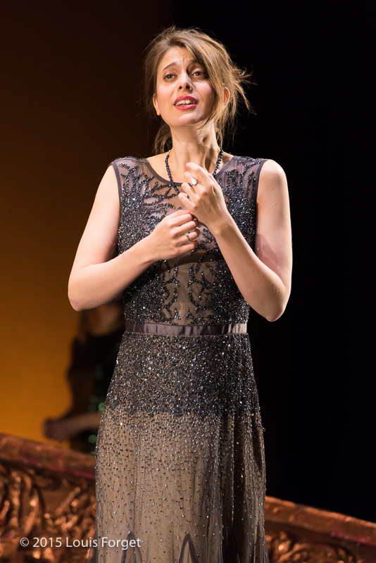 Mezzo-soprano Anna Reinhold in Opera Lafayette's production of Vivaldi's Catone in Utica