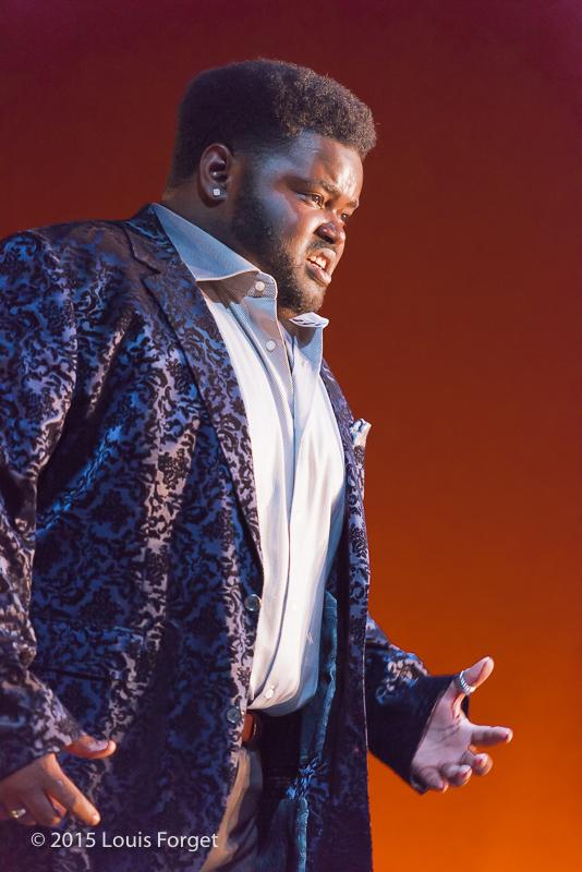 Countertenor John Holiday in Opera Lafayette's production of Vivaldi's Catone in Utica