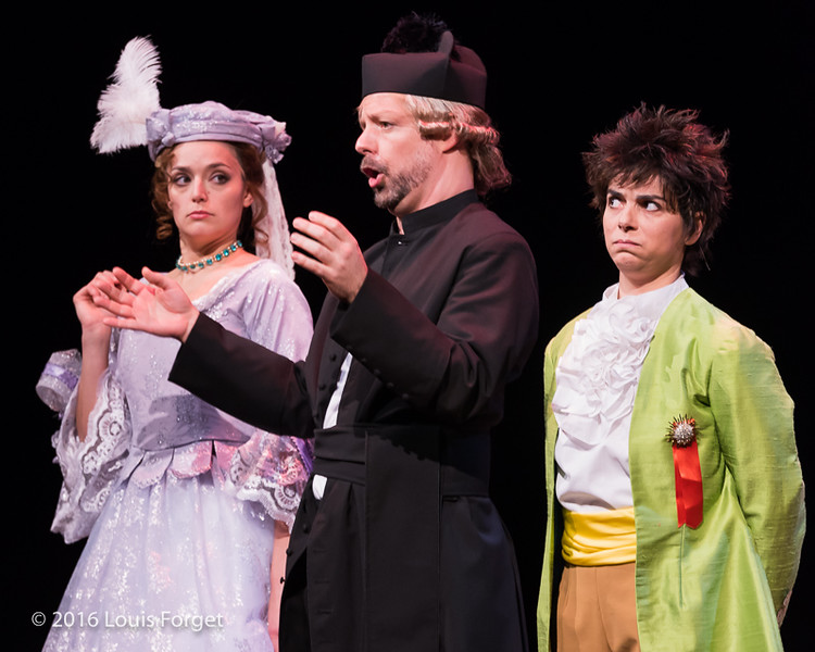 Chabrier-4182 - (L. to R.) Soprano Sophie Junker, baritone Dominique Côté and soprano Amel Brahim-Djelloul in Opera Lafayette's production of Chabrier's Une Éducation Manquée