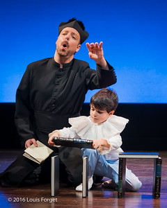 Chabrier-4047 - (L. to R.) Baritone Dominique Côté and child actor Sami Sidi-Boumedine in Opera Lafayette's production of Chabrier's Une Éducation Manquée