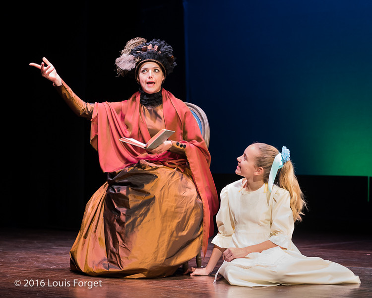 Chabrier-4063 - (L. to R.) Soprano Sophie Junker and child actor Sofia Brunetti in Opera Lafayette's production of Chabrier's Une Éducation Manquée