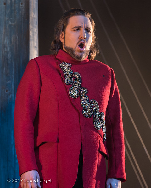 Bass-baritone Alexandre Sylvestre in rehearsal of Opera Lafayette's production of Léonore, ou L'Amour conjugal by Pierre Gaveaux