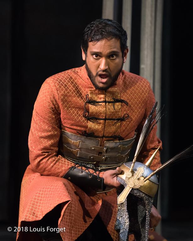 Tenor Asitha Tennekoon in rehearsal of Opera Lafayette's production of Erminia by Alessandro Scarlatti