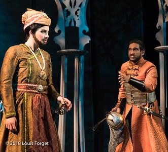 (L. to r.) Mezzo soprano Allegra de Vita and tenor Asitha Tennekoon in rehearsal of Opera Lafayette's produciton of Erminia by Alessandro Scarlatti